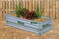Rectangular Raised Garden Bed x x Zincalume with measurements. Brisbane, Melbourne, Sydney, Raised Garden Beds, Raised Beds, Diys, Colours, Plants, Wilderness
