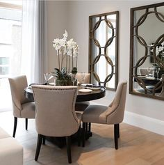 Accent Chairs, Dining Chairs, Homes, Furniture, Home Decor, House Interiors, Upholstered Chairs, Houses, Decoration Home