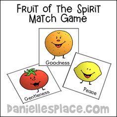 Fruit of the Spirit Match Game
