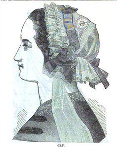 cap via Ladies Of The 1860s