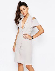 Missguided Cold Shoulder Blazer Dress