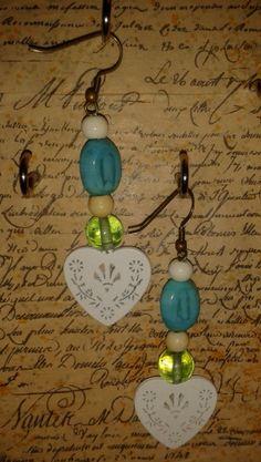 Wooden Heart Earrings by DitsyDaisyUK on Etsy, £5.00