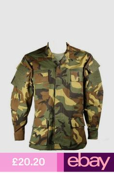 New Bulle Woodland Raid Military Tactical Combat BDU Shirt Ripstop Woodland, Casual Shirts, Military Jacket, Camo, Your Style, Jackets, Clothes, Shopping, Accessories
