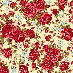 Tecido Nacional para Patchwork - Amor em Flor - AF6138-2