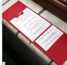 Wedding Invitation Pocket Idea