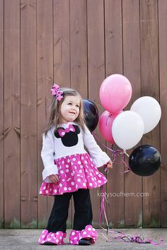 Custom Boutique Minnie Mouse Hot Pink White by LilBugsClothing, $67.50