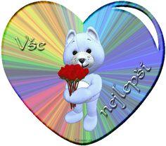 018 dětská přáníčka k narozeninám Cute Bears, Heart Gif, Clock, Teddy Bear, Animals, Good Afternoon, Watch, Animales, Animaux