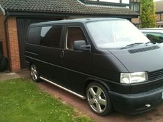 Photo: Uploaded from the Photobucket iPhone App. This Photo was uploaded by Volkswagen Transporter T4, Car Painting, Vw Camper, Campervan, Van Life, Hot Rods, Layouts, Exterior, Cars