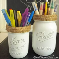Mason Jar Pencil Holders