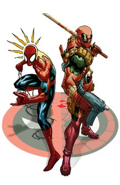 Spider-Man and Deadpool by Eddie Nunez
