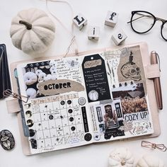 👋🏻 I have also posted a video on my channel showing my… Hey Oktober ! Bullet Journal Kpop, Bullet Journal Aesthetic, Bullet Journal School, Bullet Journal Ideas Pages, Bullet Journal Spread, Bullet Journal Inspo, Rose Gold Pen, Scrapbook Journal, Travel Scrapbook