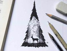 Beau arbre facile a dessiner dessin un arbre dessiner arbre de noel silhouette dessin paysage dans silhouette d arbre
