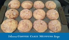 Delicious Coffee Cake Muffins Recipe Imagine eating these scrumptious muffins with a hot cup of coffee while opening up your presents on Christmas morning—or any morning for that matter. Muffin Recipes, My Recipes, Baking Recipes, Breakfast Recipes, Dessert Recipes, Favorite Recipes, Breakfast Ideas, Christmas Cooking, Desert Recipes