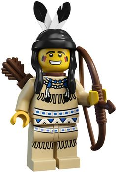 Lego Minifigures Series 1 - Red Indian