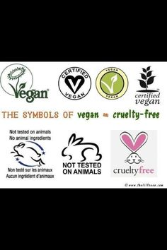 Animal cruelty free brands!   Arbonne is also gluten free, diary free and contains no artificial flavours.