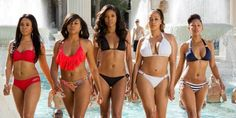 Pin for Later: The Best Bikini Moments in Movies Regina Hall, Taraji P. Henson, Gabrielle Union, La La Antony, and Meagan Good, Think Like a Man Too The ladies strip down to bikinis for a Vegas pool party.