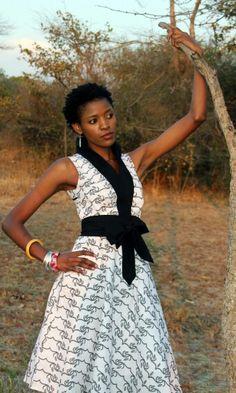 African print dress. Kamanga Wear. A Zambian design label.
