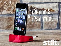 Stilt -- iPhone 5's Charging Dock That Loves to Travel by Lance Atkins, via Kickstarter.