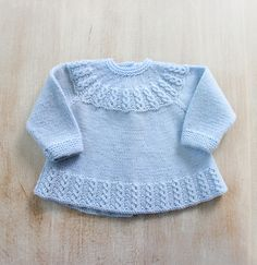 Ravelry: 26 / Blue Baby Jacket by Florence Merlin