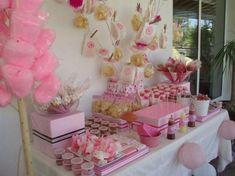 mesas baby shower niña - Buscar con Google