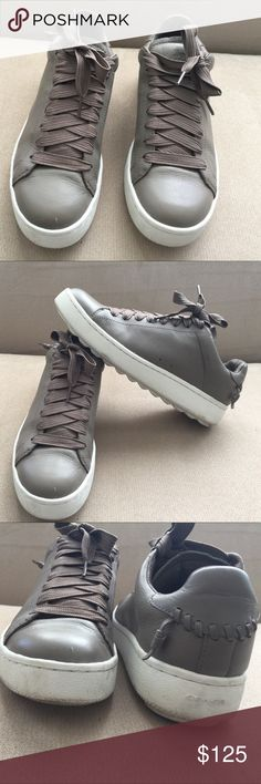 Coach Man's Leather shoes Size 9.5 Used but perfect condition , look like new, very elegant Lace up,  gray/brown color color Coach Shoes Oxfords & Derbys