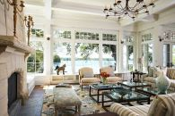 House of Turquoise: Billy Beson Company living room Coastal Living Rooms, Home Living Room, Living Room Designs, Living Room Decor, Living Spaces, Dining Room, Cozy Living, Kitchen Living, Living Area