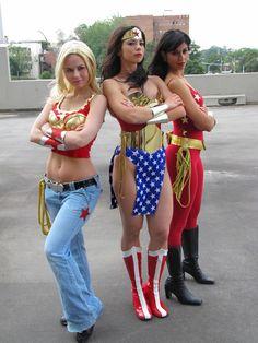 Cassie, Diana & Donna as wonder woman