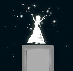 Leuchtsticker Schneekönigin fluoreszierend Frozen von deinewandkunst auf DaWanda.com