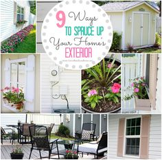 Fun front doors on pinterest exterior doors front doors and curb appeal - Six ways to spruce up your balcony ...