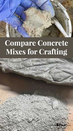 Compare Concrete Mixes for Crafting - Made By Barb - which concrete to use? - concrete mixes – Choose which concrete mix is best for what you want to make - Concrete Cement, Concrete Crafts, Concrete Planters, Concrete Casting, Concrete Jewelry, Concrete Houses, Concrete Furniture, Stamped Concrete, Polished Concrete