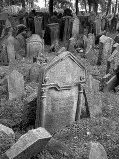 Old Jewish Cemetery (Czech Republic) With 12,000 gravestones and some 100,000 bodies packed into a space the size of a suburban garden, Prague's old Jewish Cemetery is like no other on earth.