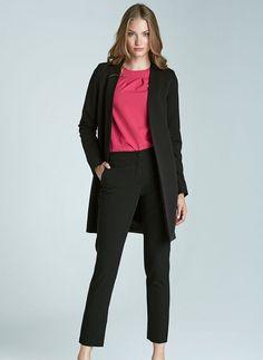 8c1485fe0251 Pantalon noir femme 7 8 Droit Chic qualité SD22 NIFE 34 36 38 40 42