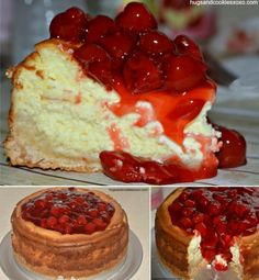 How to make cherry cheesecake food cake dessert cheesecake cherry cheesecake Baking Recipes, Cake Recipes, Healthy Holiday Recipes, Breakfast Smoothie Recipes, Desert Recipes, Food To Make, Sweet Treats, Cherry, Favorite Recipes