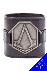 Assassins Creed Syndicate Wristband with Metal Logo Patch Black