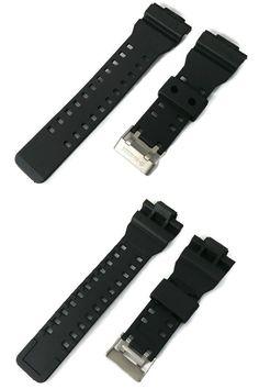 35e96081294 Wristwatch Bands 98624  16Mm Black Rubber Watch Band For G-Shock G-8900  Ga-100 Ga-110 Ga-120 Ga-300 -  BUY IT NOW ONLY   10.99 on  eBay  wristwatch   bands ...