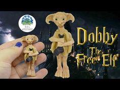Dobby the Free Elf - Harry Potter Saga inspired - Polymer Clay Tutorial - Blue in Wonderwood - YouTube