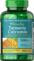 Turmeric Curcumin 450 mg. $13.99 for 1 bottle or 5 for $33.55. The active ingredients in Turmeric include beneficial flavonoids called Curcuminoids, which are plant-based antioxidants.** As we've seen with many popular antioxidants like Vitamins C and E, Co Q-10, Green Tea and Garlic, they help fight cell-damaging free radicals in the body.**Turmeric has a long history of use in India and it is a popular spice used in curry dishes.