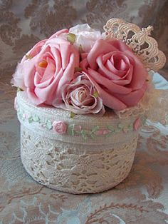 Angela Lace centerpiece for wedding or shower