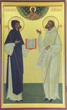 Bernard - Monastery of Vallechiara Religious Icons, Religious Art, Saint Benoit, Anglican Church, Catholic Saints, Christianity, Religion, Byzantine, Training