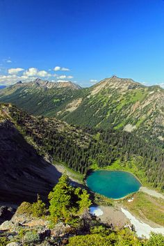 Hopkins Lake, from Lakeview Ridge, Pacific Crest Trail, Pasayten Wilderness | Flickr - Photo Sharing!