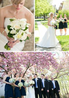 Blue and White Wedding Ideas - A preppy and elegant bayside wedding by Carly Fuller Photography || see more on artfullywed.com