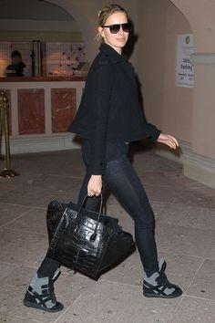Karolina Kurkova wearing Isabel Marant sneakers
