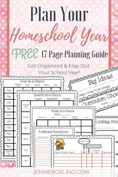You will love this tool for mapping out your entire y… {FREE} Homeschool Planner! You will love this tool for mapping out your entire year, quarters, and months! Plus pages for organizing and tracking books, resources, curriculu Lesson Planner, Planner Pages, Planner Organization, Organizing, School Organization, Homeschool Curriculum, Curriculum Planning, Homeschooling Resources, Home Schooling