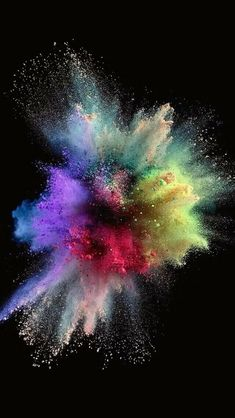 Colorful Explosion on Black Wallpaper Colourful Wallpaper Iphone, Iphone 5s Wallpaper, Apple Wallpaper, Black Wallpaper, Galaxy Wallpaper, Cool Wallpaper, Mobile Wallpaper, Wallpaper Backgrounds, Iphone Wallpapers