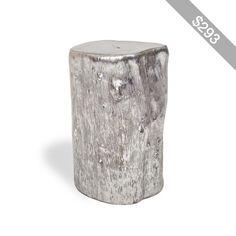 Origin Small Silver Log Side Table