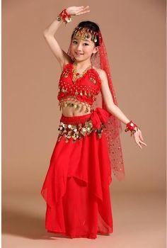 1b9ee231866b Children Belly Dance Costume Kids Indian Dance Dress Child Bollywood Dance  Costumes for women Performance Dance Wear