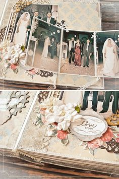 אלבום התמונות של אולושקה, עיצוב: אולושקה, הפוסט המלא: http://urbanbridesmag.co.il/ #design #craft #scrap #DIY #album #wedding #romantic #vintage #shabby_chic