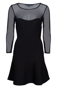 French Connection Power Stretch Peplum Dress with black nylons and red shoes Formal Cocktail Dress, Weekend Wear, Spring Summer Fashion, Peplum Dress, Latest Trends, Party Dress, Dresses For Work, Clothes For Women, My Style