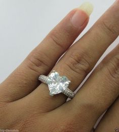 Fine Rings 14carat White Solid Gold 0.22 Cts Certified Diamond Ring Jewelry