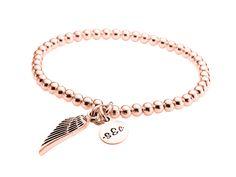 ladies rosegolden angelwing bracelet